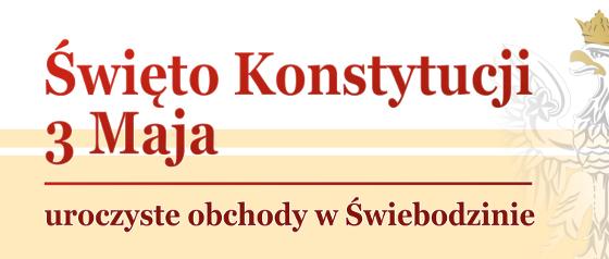 Ilustracja do informacji: Uroczyste obchody Święta Konstytucji 3 Maja w Świebodzinie