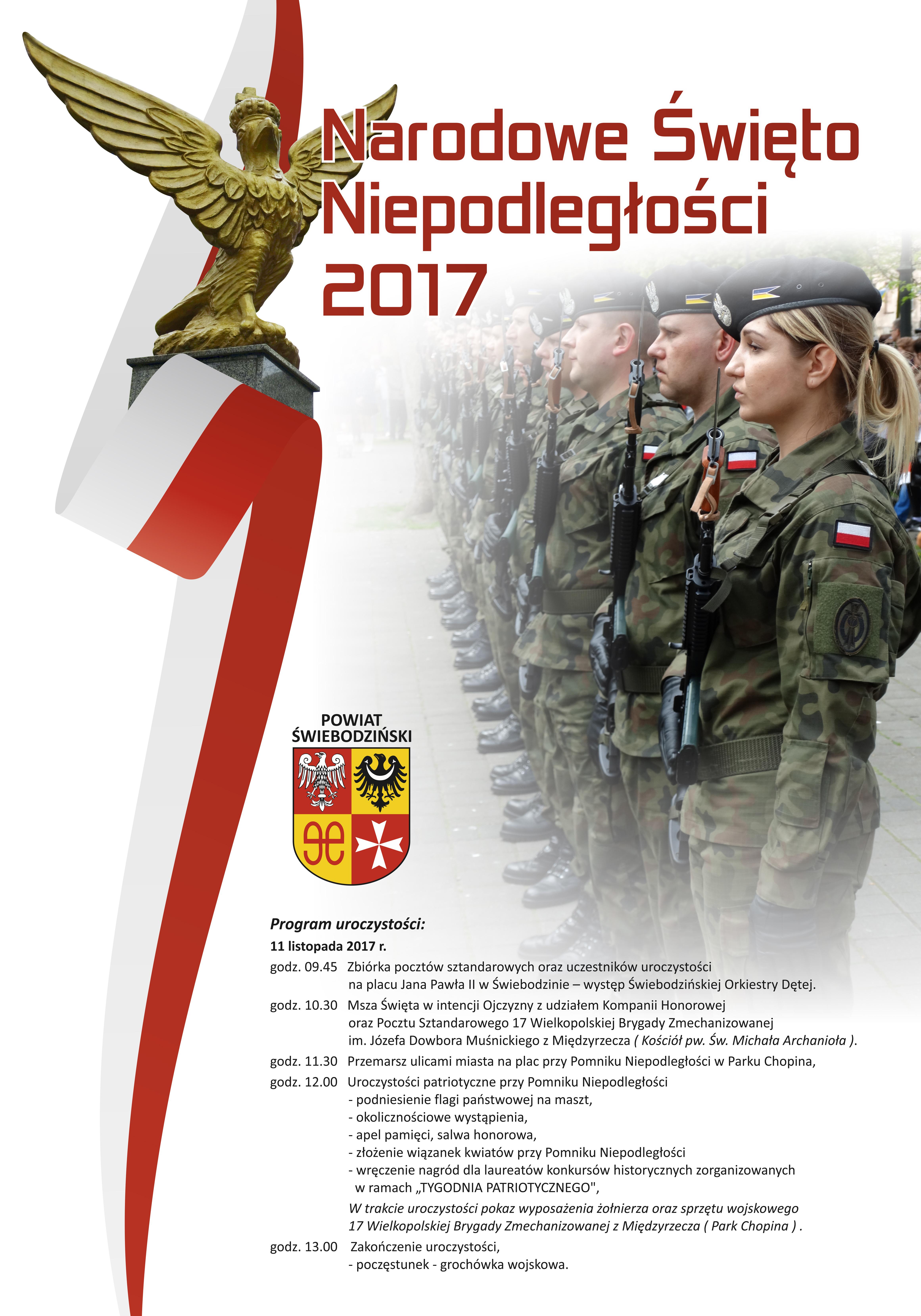 Ilustracja do informacji: Powiatowe obchody Narodowego Święta Niepodległości - 2017
