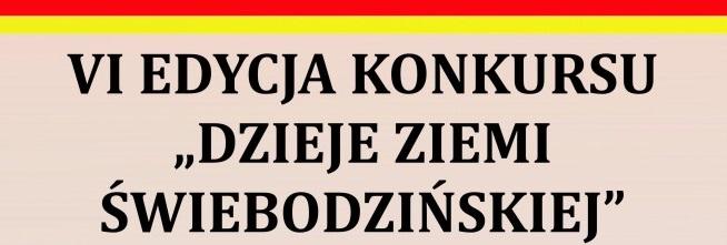 Ilustracja do informacji: Dzieje ziemi Świebodzińskiej - VI edycja konkursu.