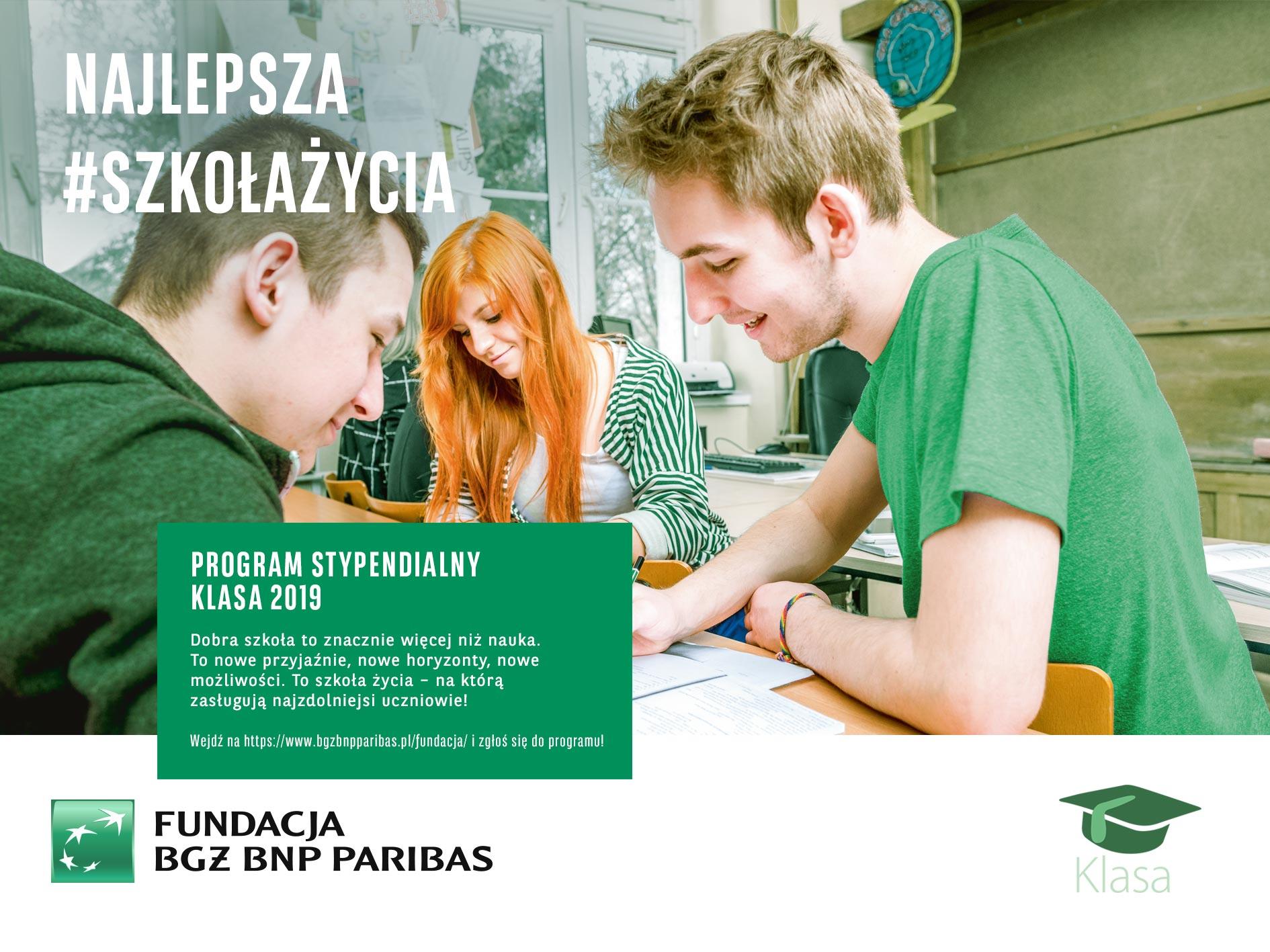 """Ilustracja do informacji: Rekrutacja do XVII edycji programu stypendialnego """"Klasa"""""""