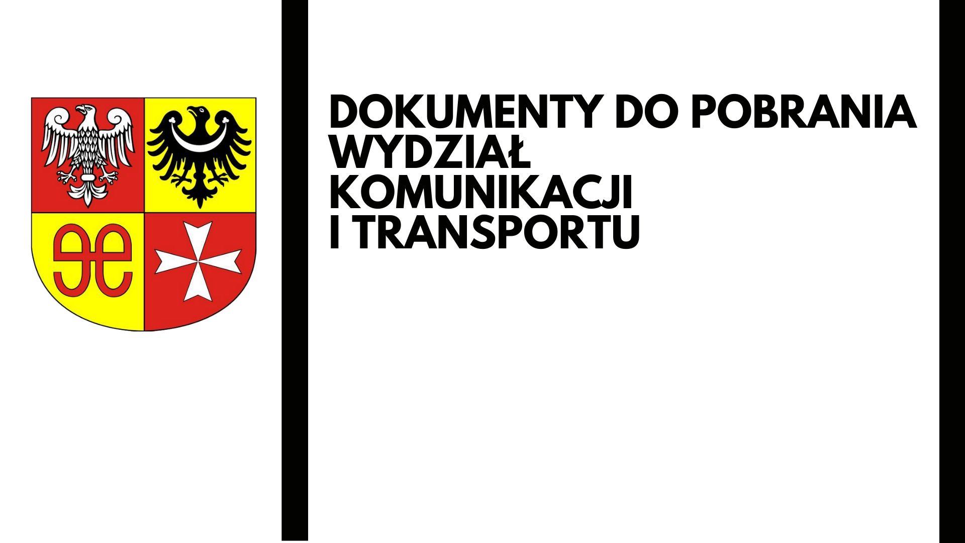 Ilustracja do informacji: Jak załatwić sprawy w Wydz. Komunikacji i Transportu