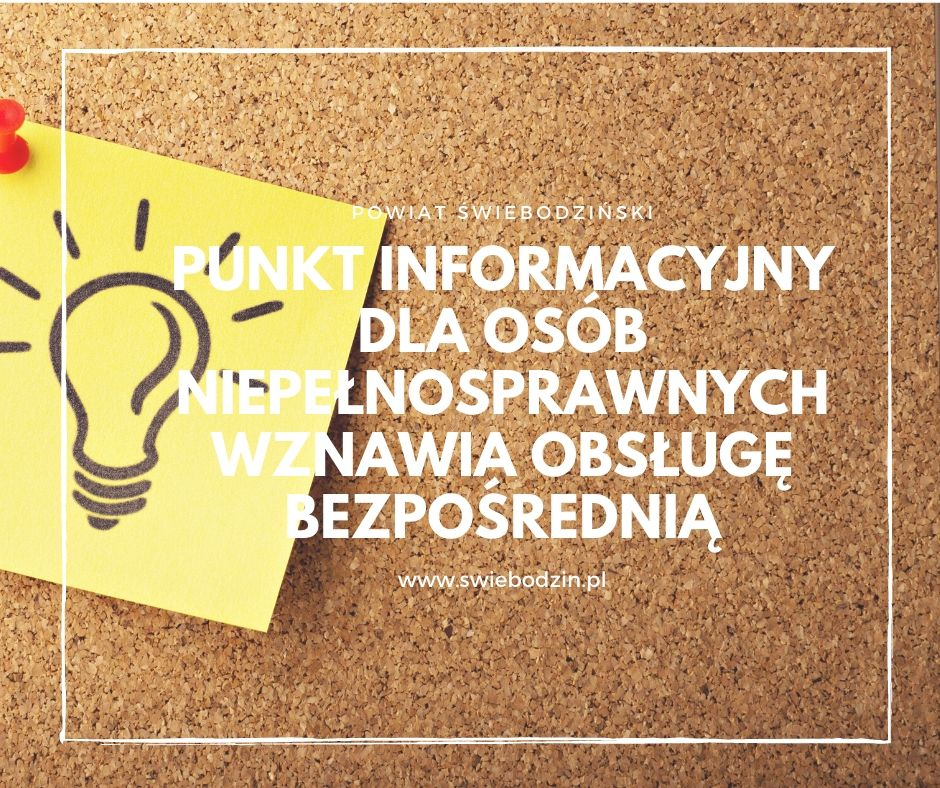 Ilustracja do informacji: Punkt Informacyjny dla Osób Niepełnosprawnych