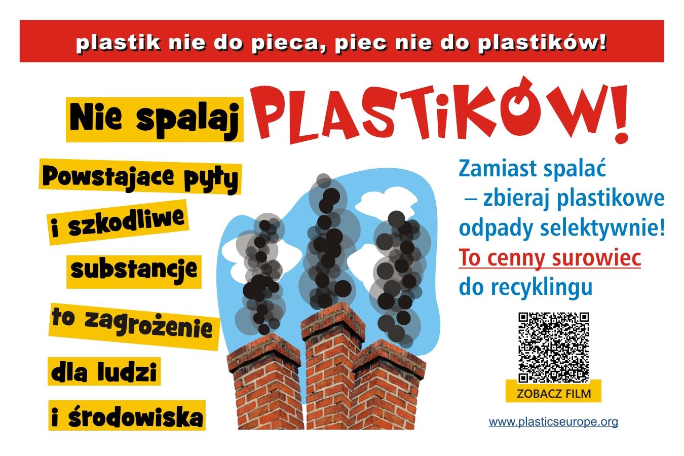 Ilustracja do informacji: Plastik nie do pieca – piec nie do plastiku