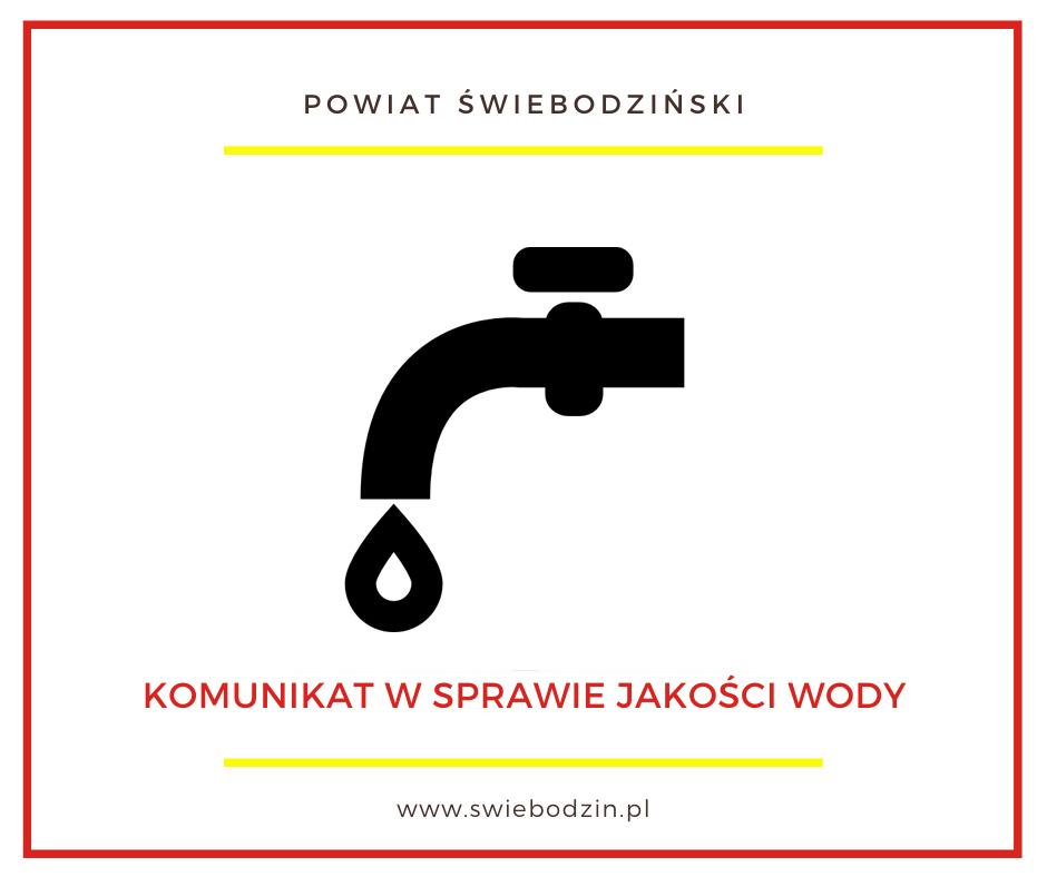 Ilustracja do informacji: Komunikat w sprawie jakości wody
